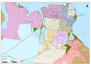 Ciudad de Posadas- plano delimitaciones CIT