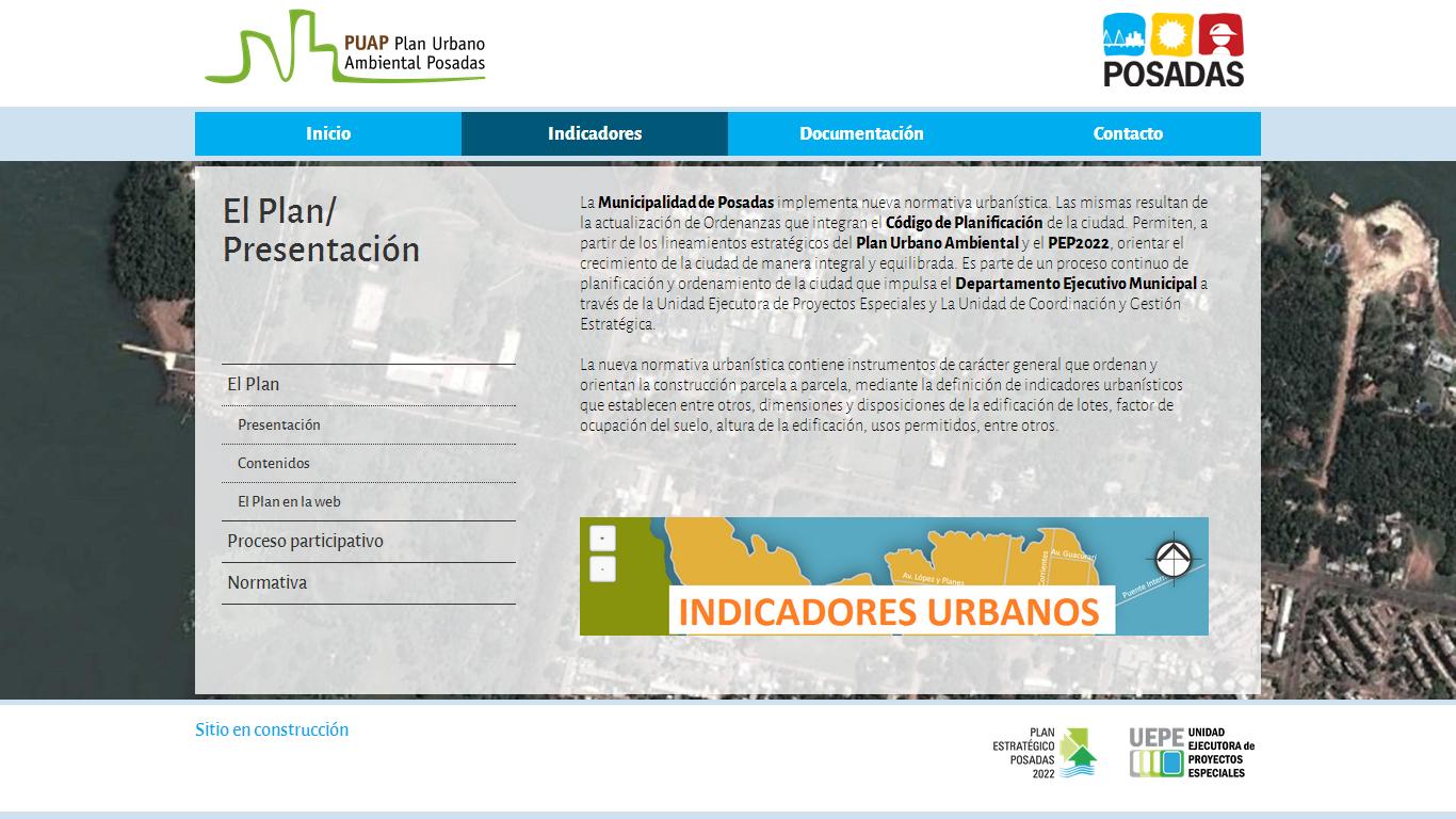Ordenamiento.posadas.gov.ar, donde podrá consultar online los indicadores urbanísticos de la ciudad
