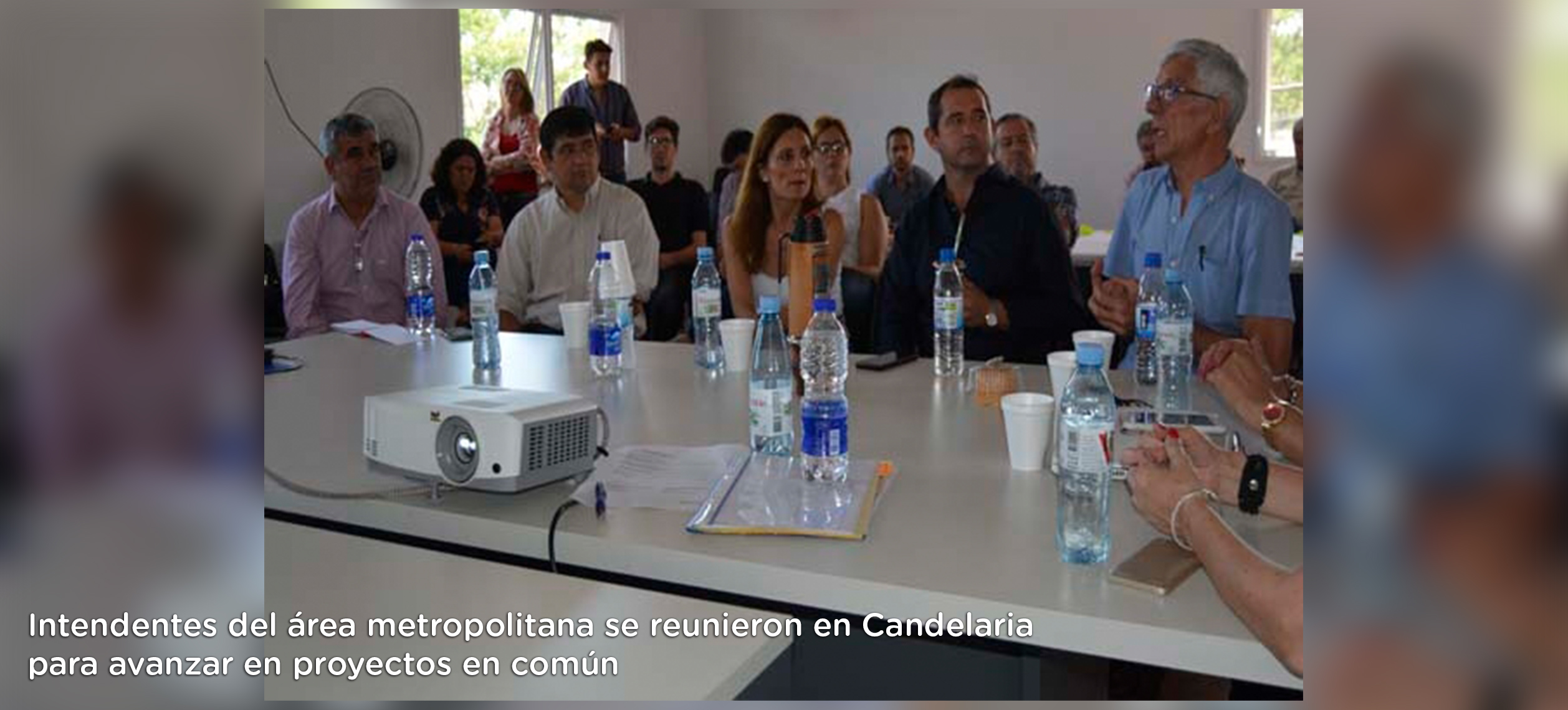Intendentes del área metropolitana se reunieron en Candelaria para avanzar en proyectos en común 01